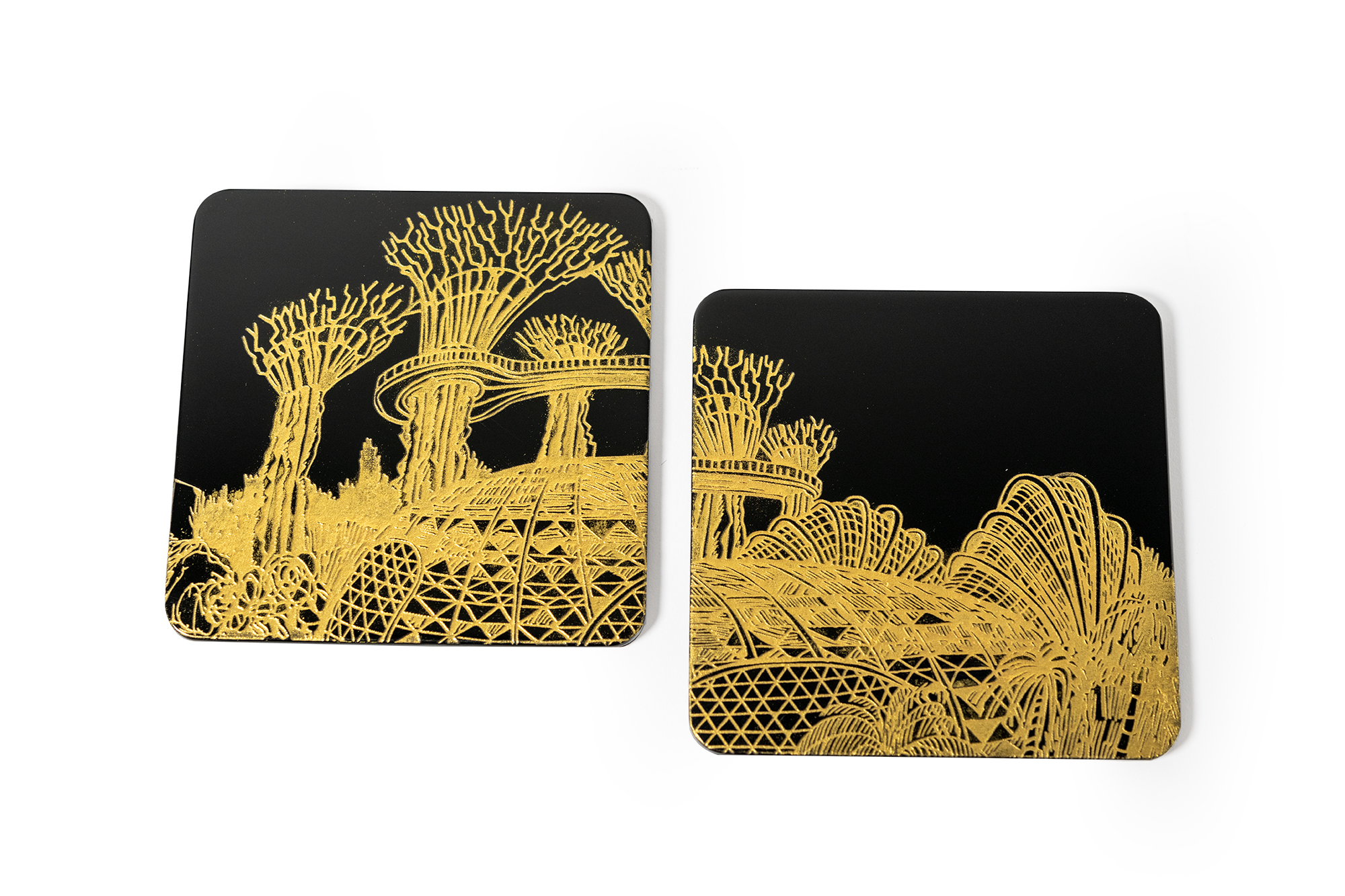 Coasters, Set of 2, Through the Looking Glass (Qua x VSA)